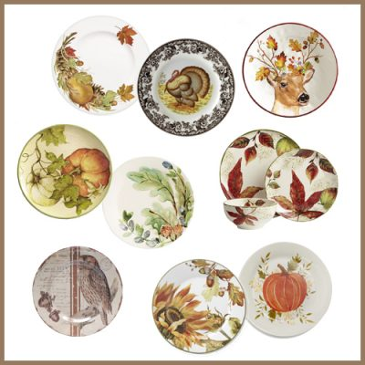 15 Pretty Thanksgiving Plates for Your Holiday Table
