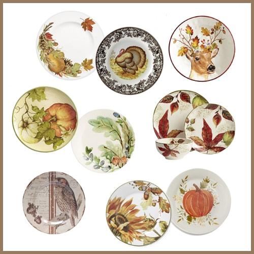 15 Shopping Ideas for Thanksgiving Plates | Designthusiasm.com
