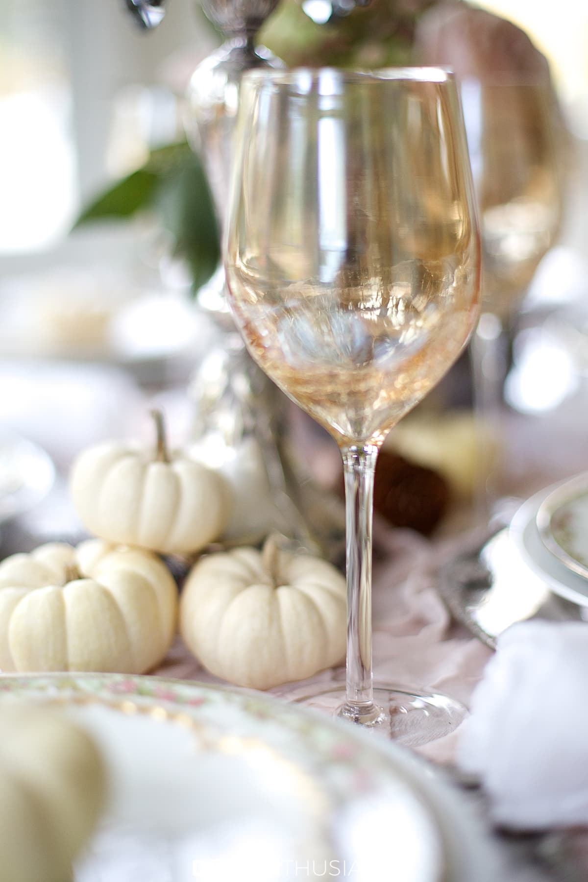 soft vintage thanksgiving table goblets