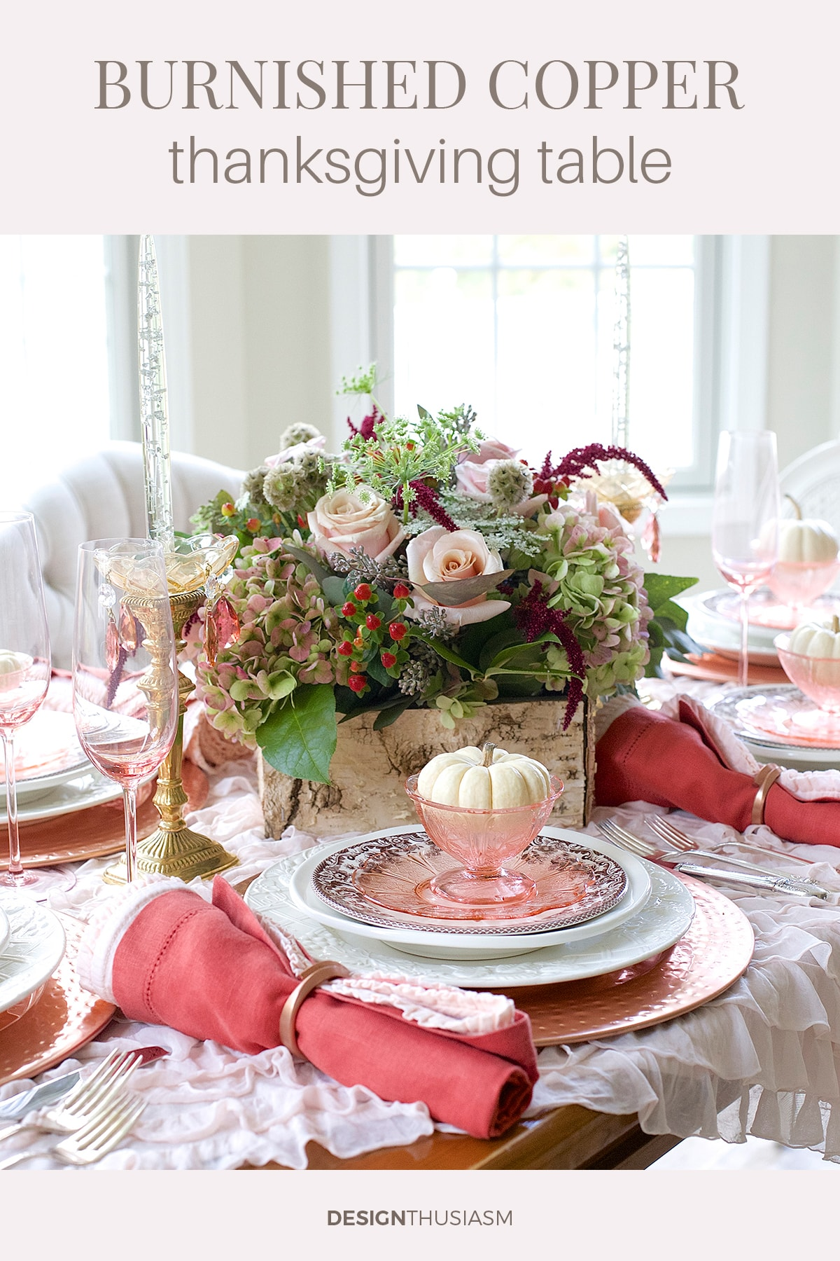 Burnished Copper Thanksgiving Tablescape