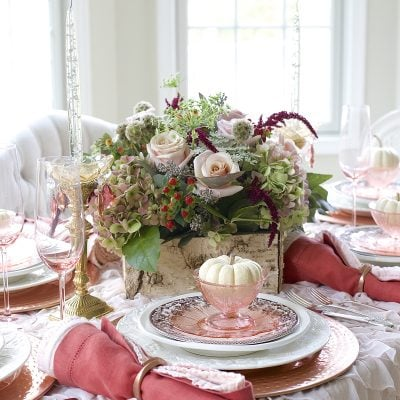 A Burnished Copper Tablescape for a Warm Thanksgiving Dinner