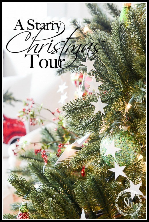 christmas home tour 2015 title page stonegableblog - Beach Style Christmas Decorations