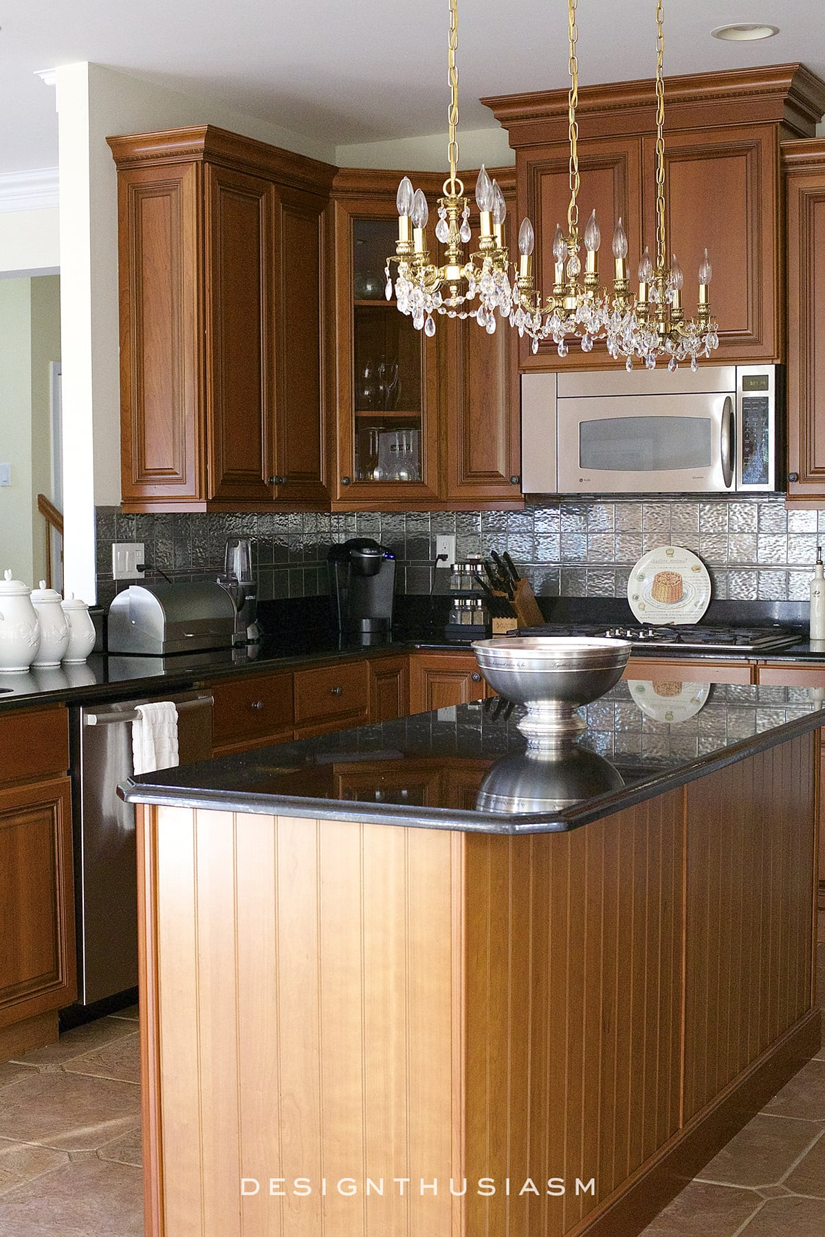 Dramatic Kitchen Renovation without Removing Cabinets | Designthusiasm.com