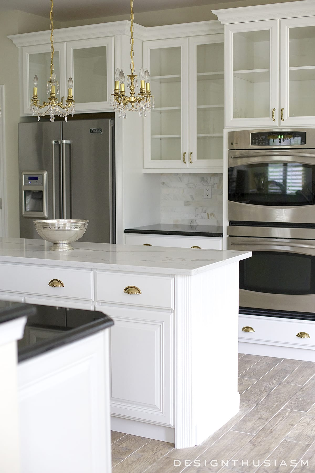 White painted cabinets simplify a kitchen renovation
