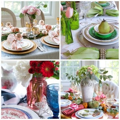 A Year of Seasonal Tablescapes   2016 in Review
