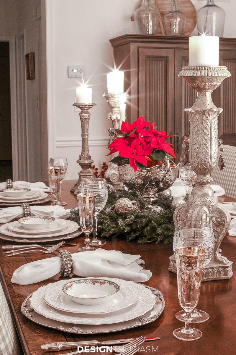 Christmas night lights on the table
