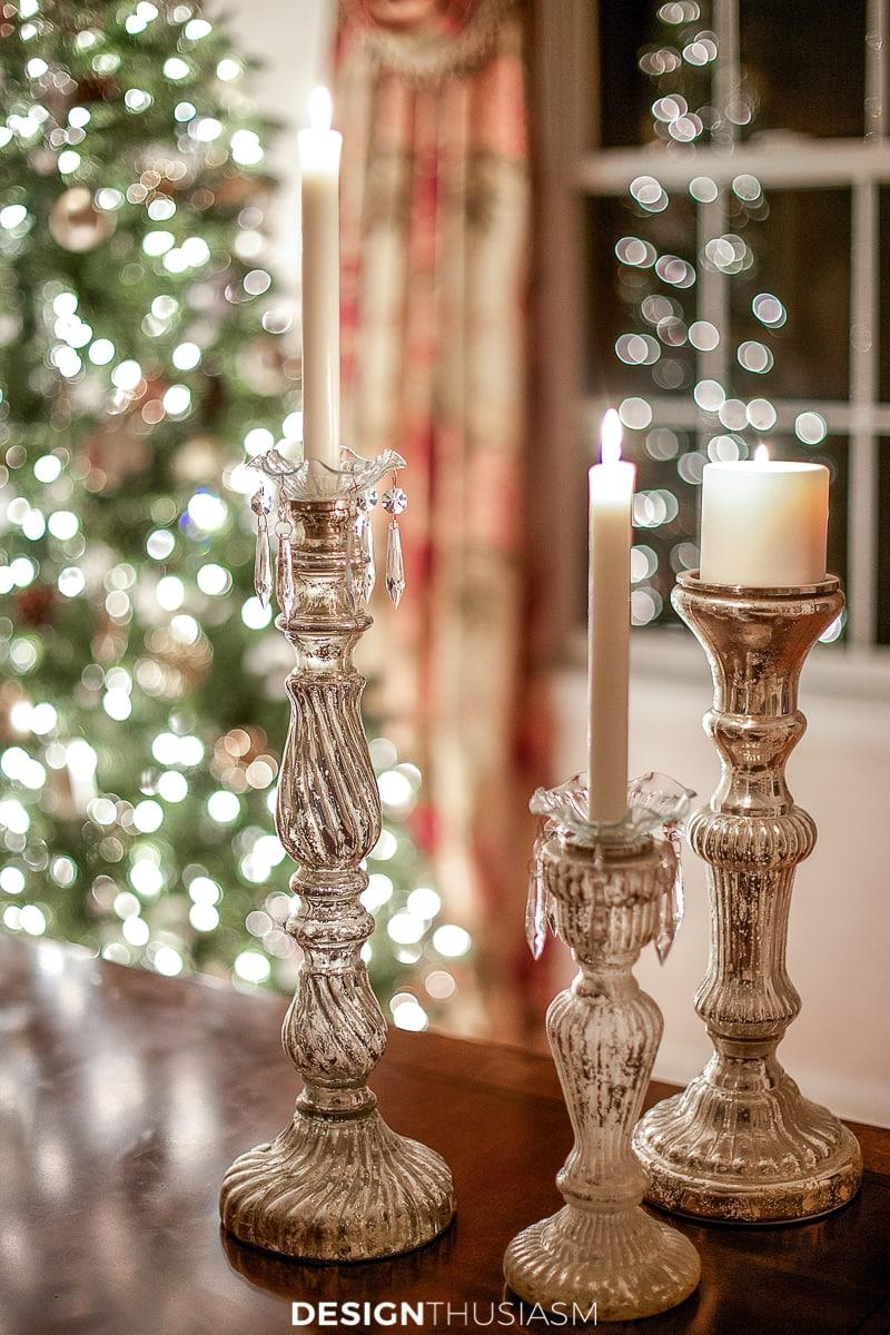 Christmas night candles