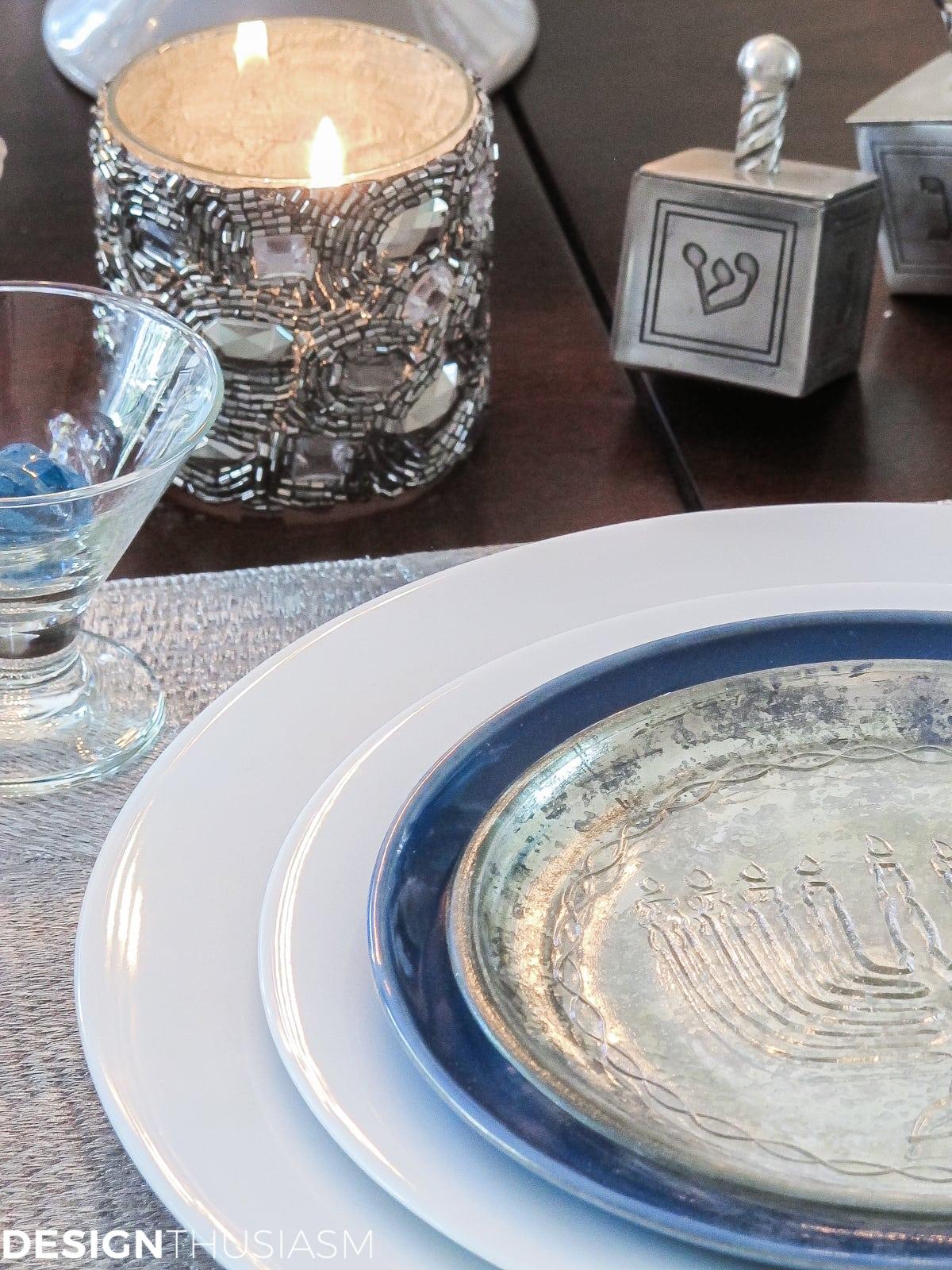 Festival of Lights Hanukkah Table Setting-15