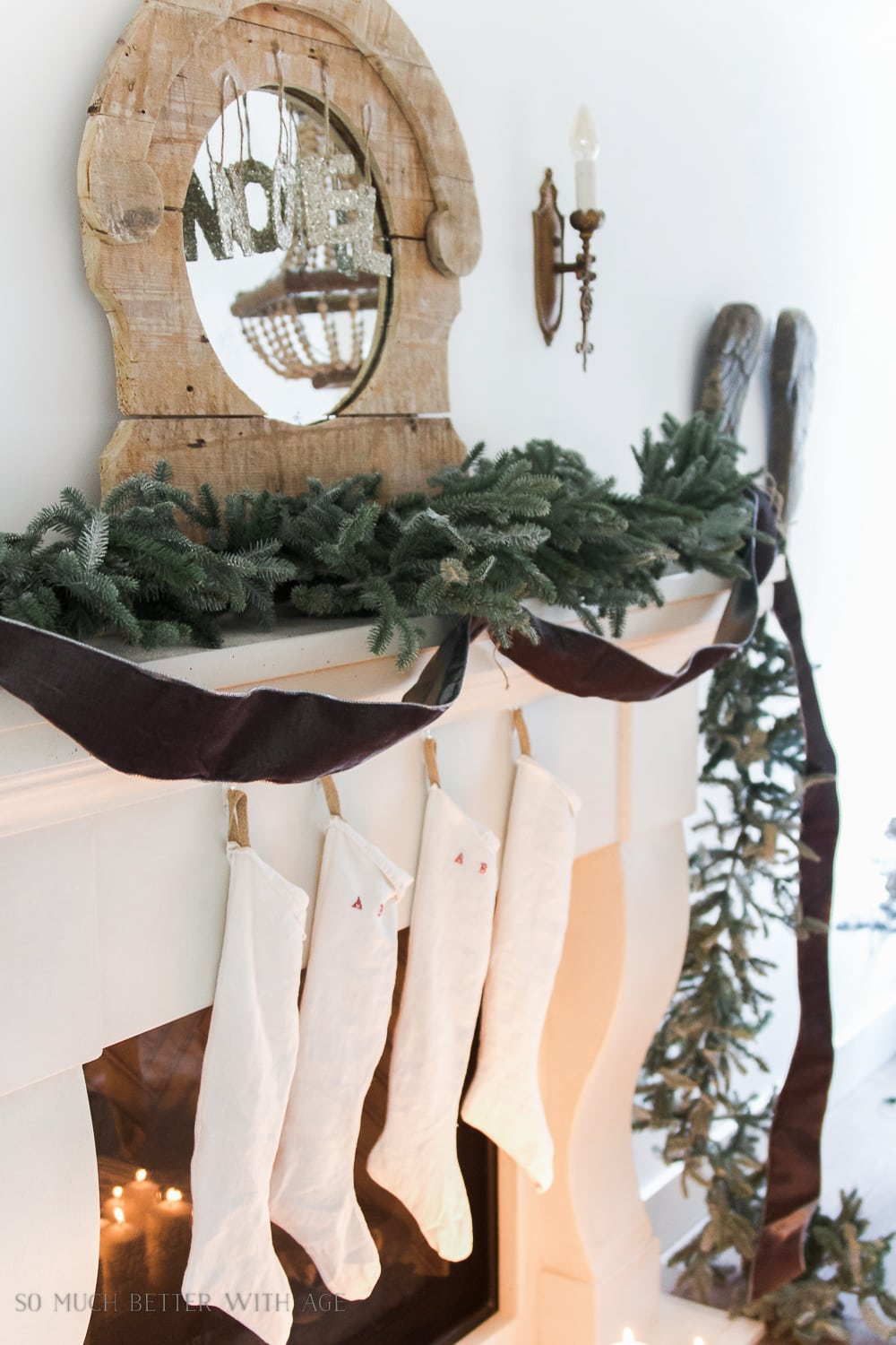 christmas-garland-mantel-grey-velvet-ribbon-104