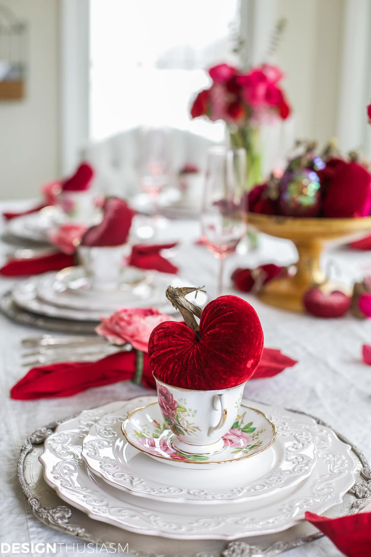 valentine office decorations. modren office valentineu0027s day decorations velvet hearts tablescape  designthusiasmcom with valentine office decorations