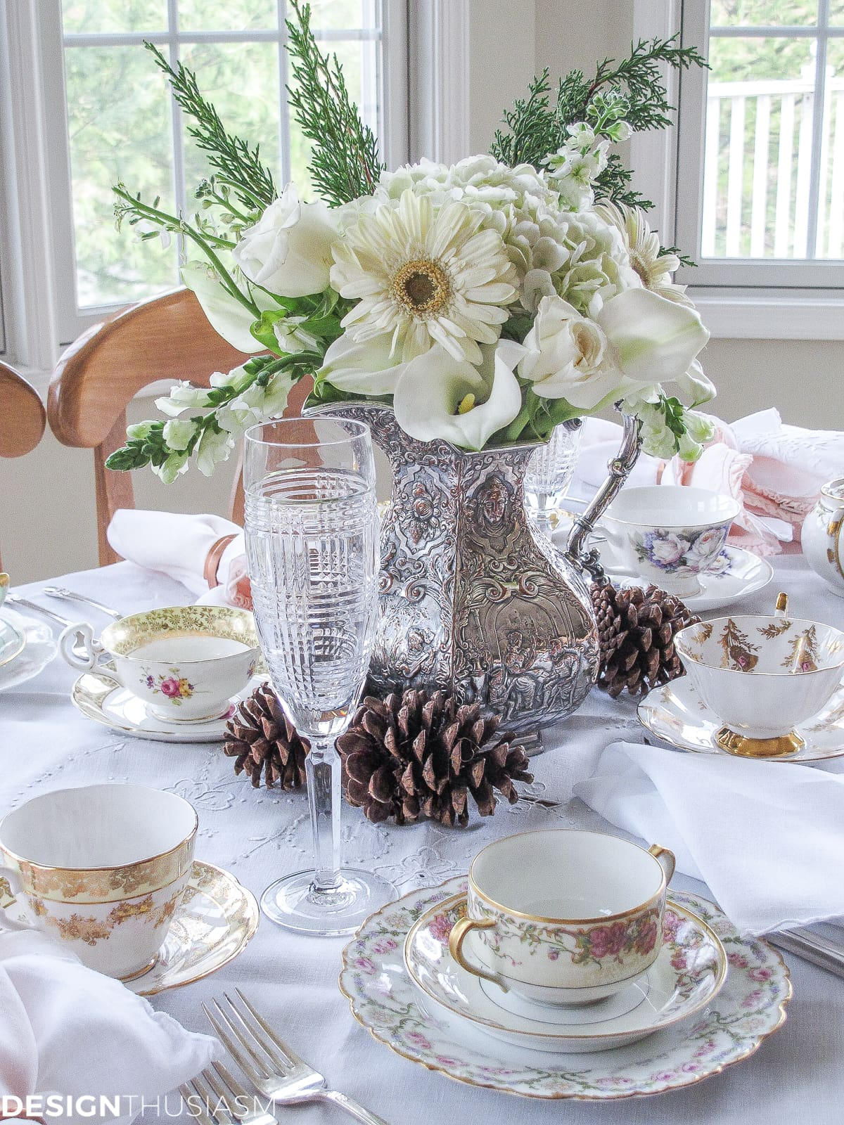 fall tea tablescape