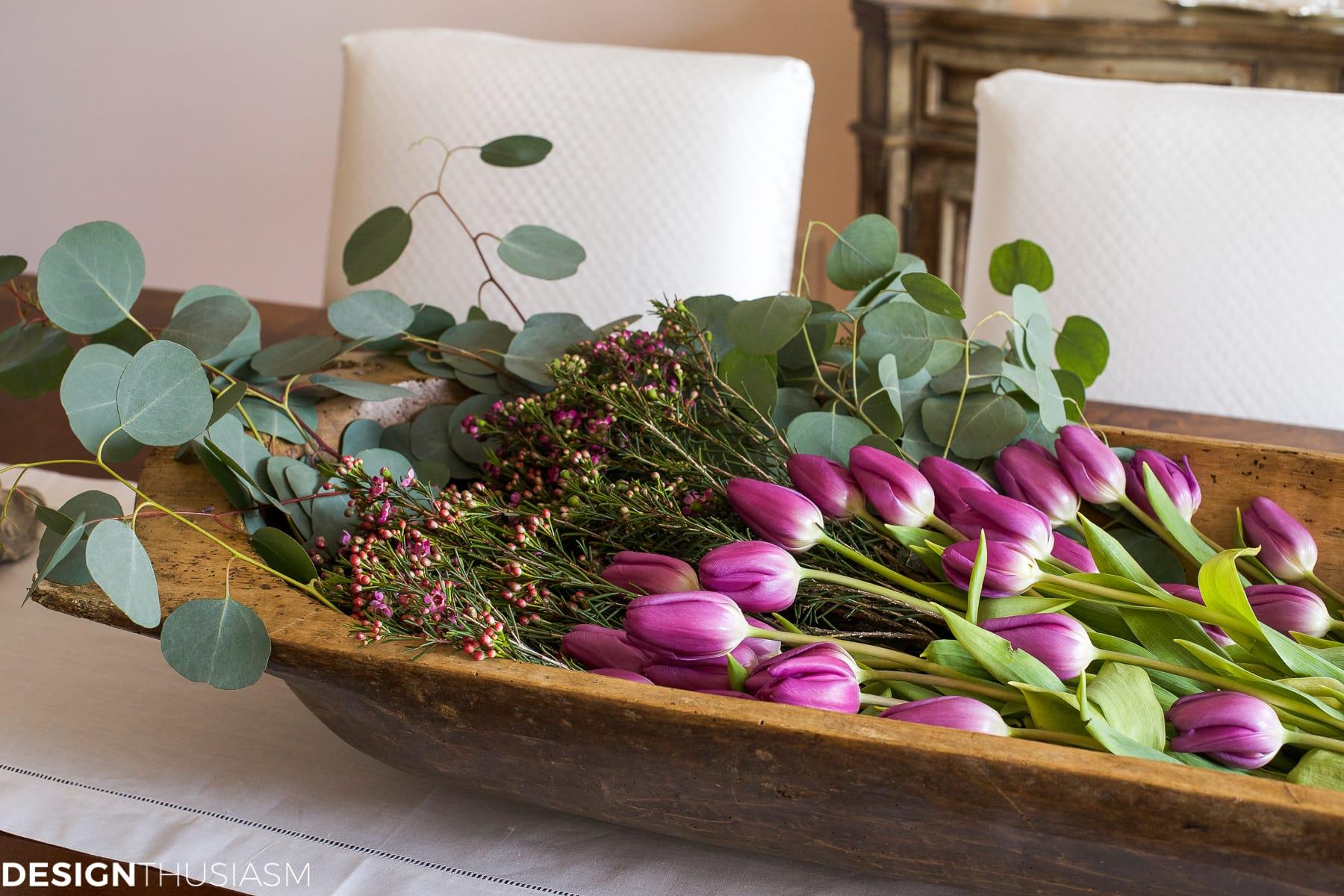 Elegant dining rooms | dough bowl centerpiece | Designthusiasm.com