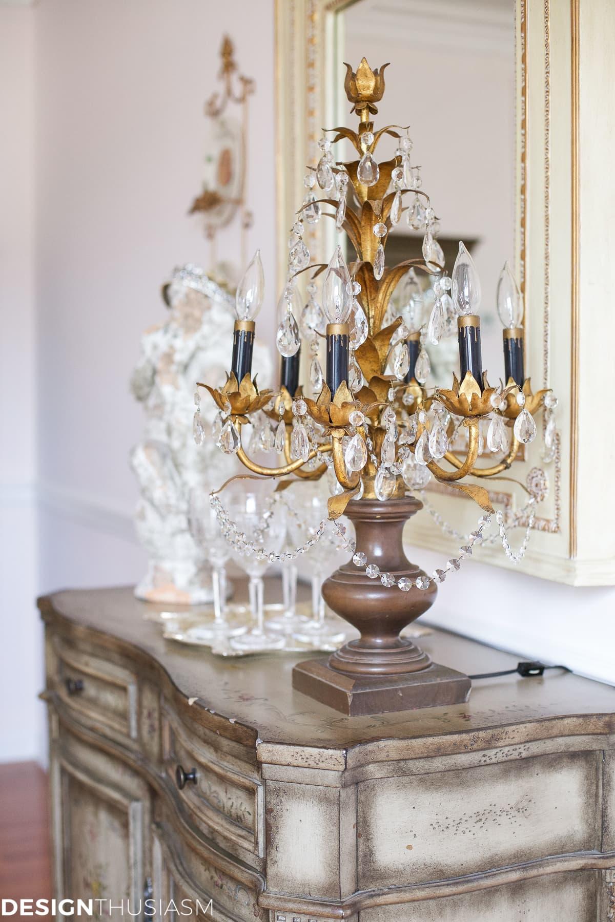 Elegant dining rooms | vintage French style sideboard | Designthusiasm.com