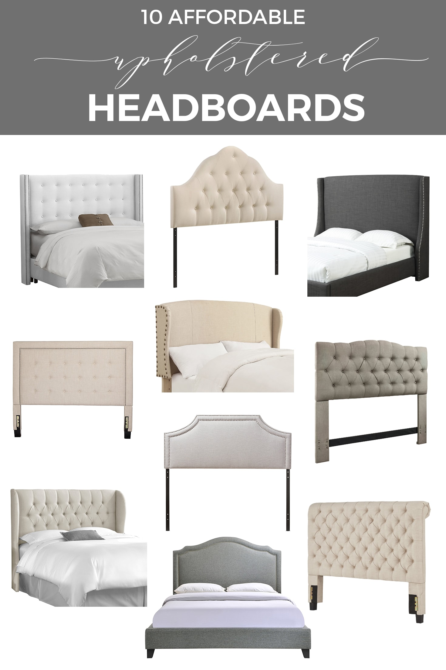 Affordable Upholstered Headboards | Designthusiasm.com