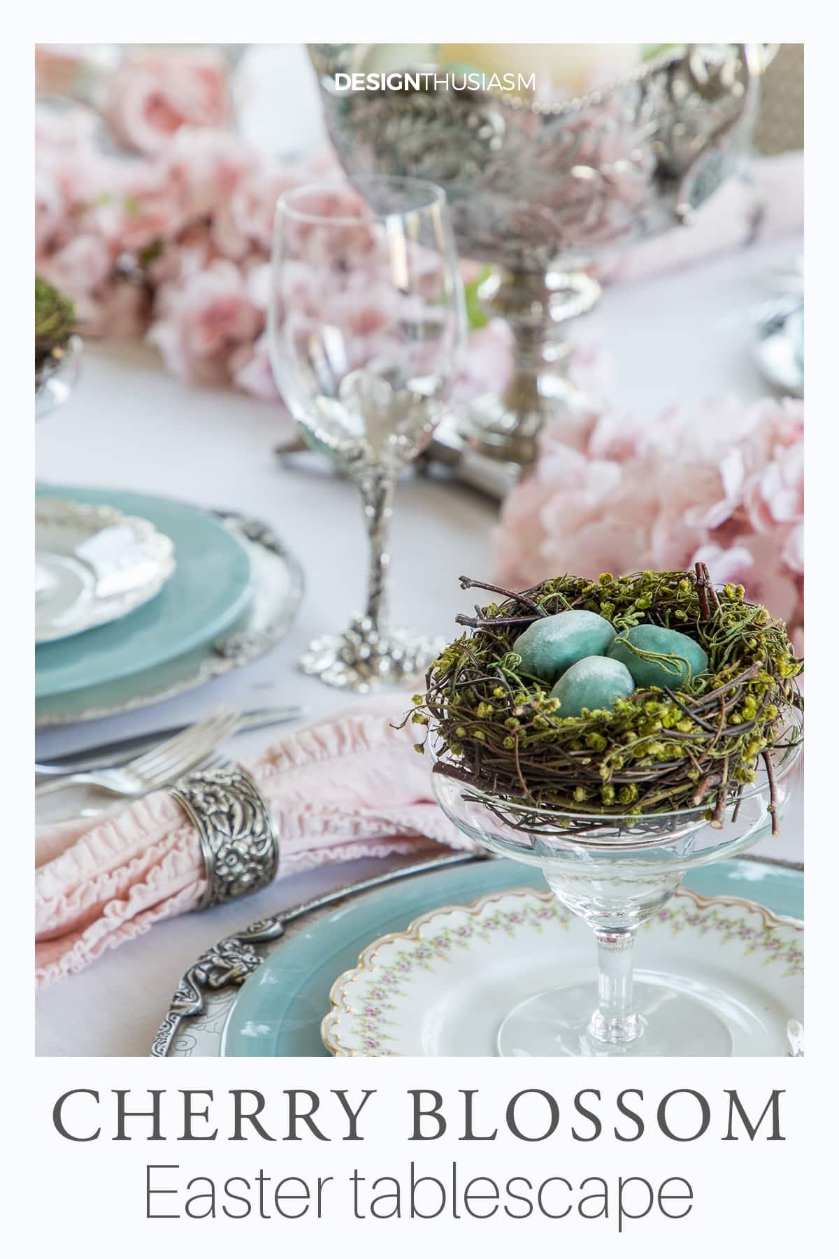 Cherry Blossom Branch Tablescape