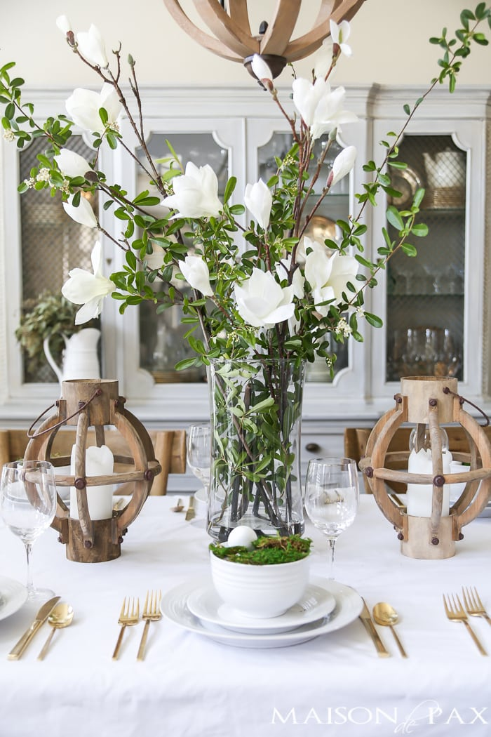 Simple Elegant Table Setting For Spring French Country