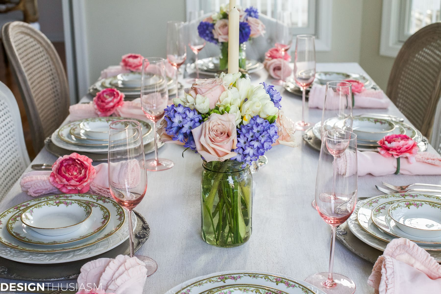 Exceptionnel Spring Table Setting: Pretty Pastels For A Sweet Occasion