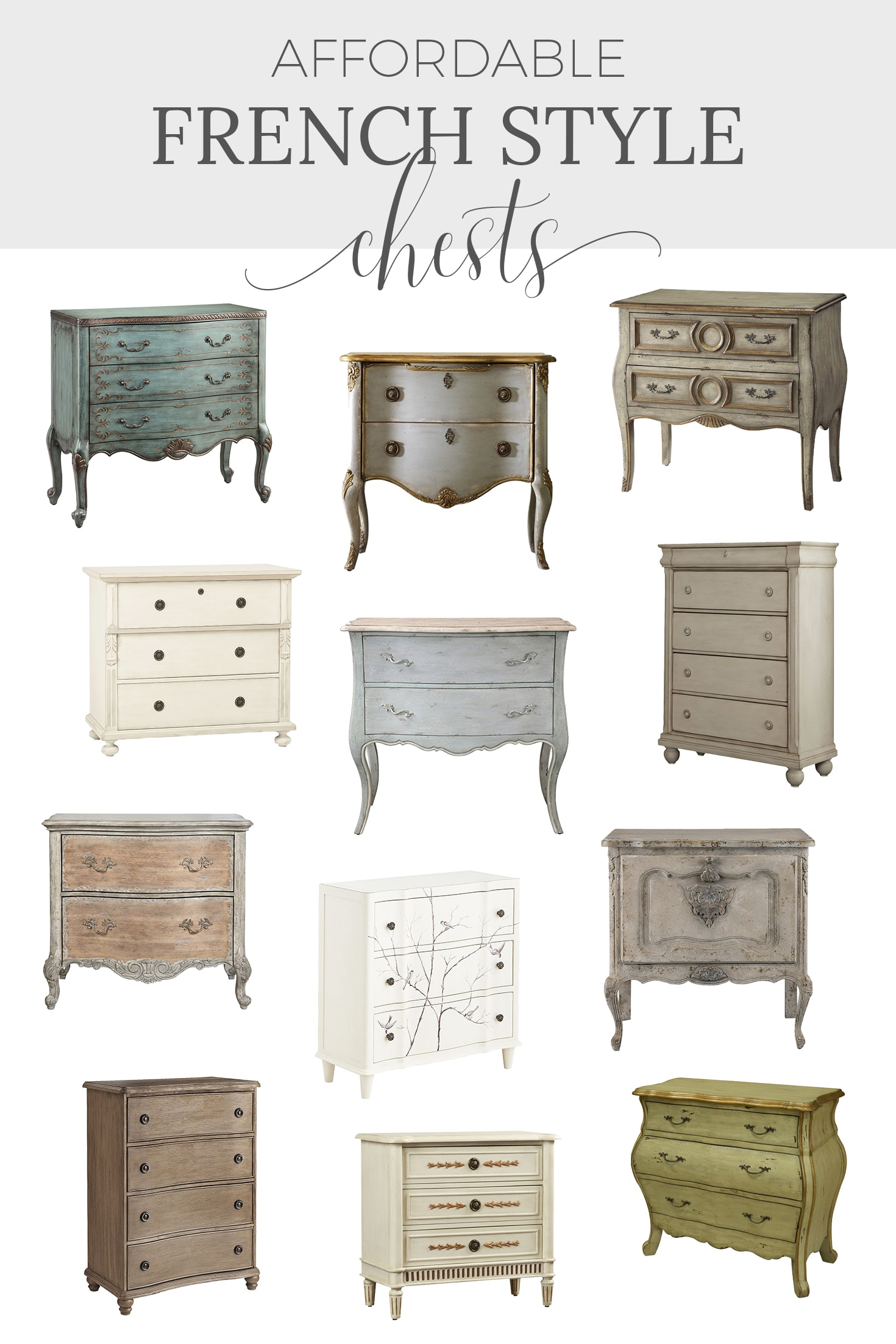 French chests of drawers