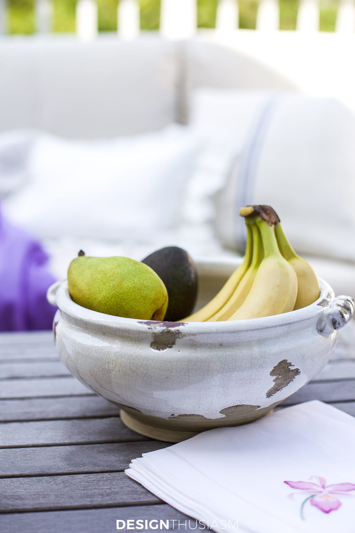 Patio decor fruit bowl