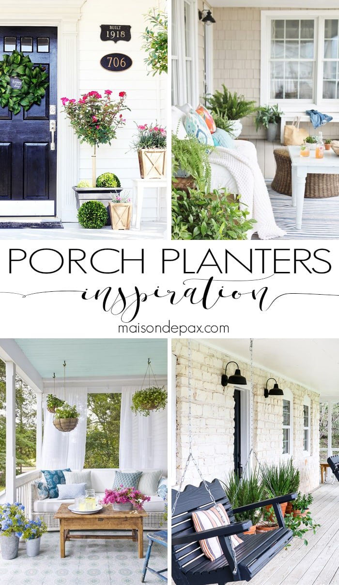 Porch Planters Inspiration