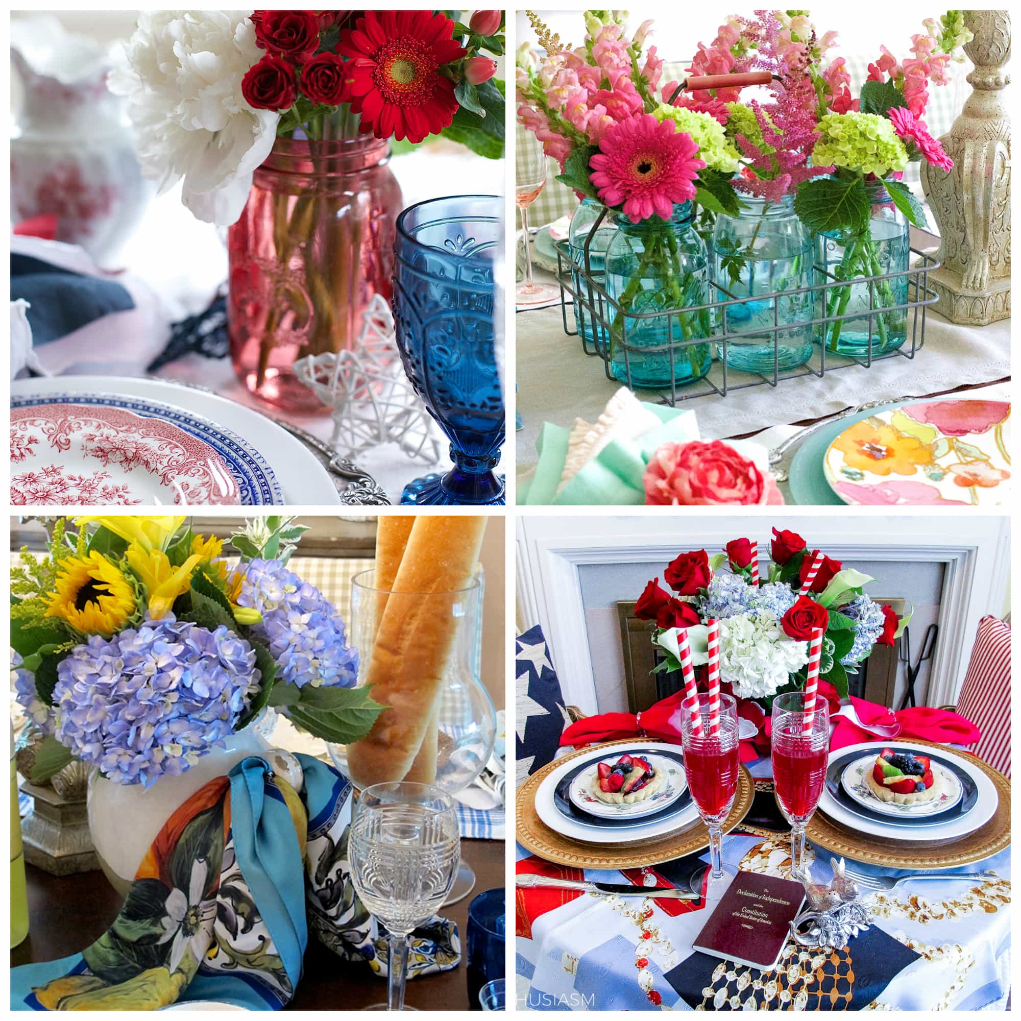 Summer party decorations 6 colorful tablescape ideas for Decoration ideas