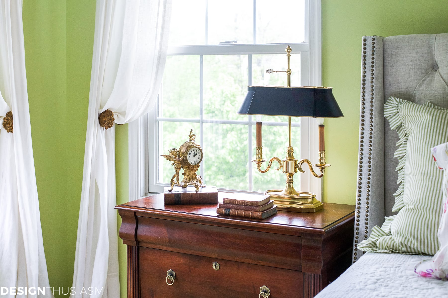 Refining the Master Bedroom with a White Tufted Headboard - designthusiasm.com