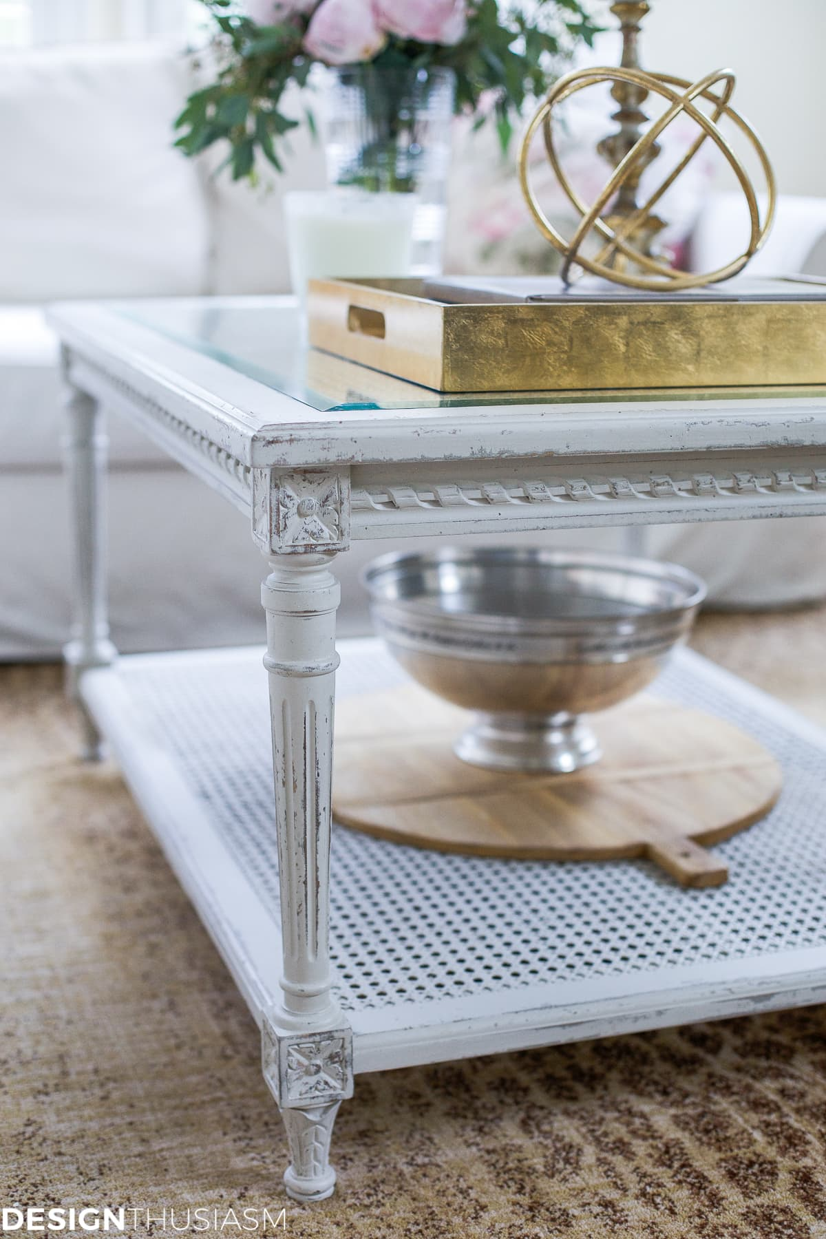 Updating The Family Room With A French Country Coffee Table    Designthusiasm.com