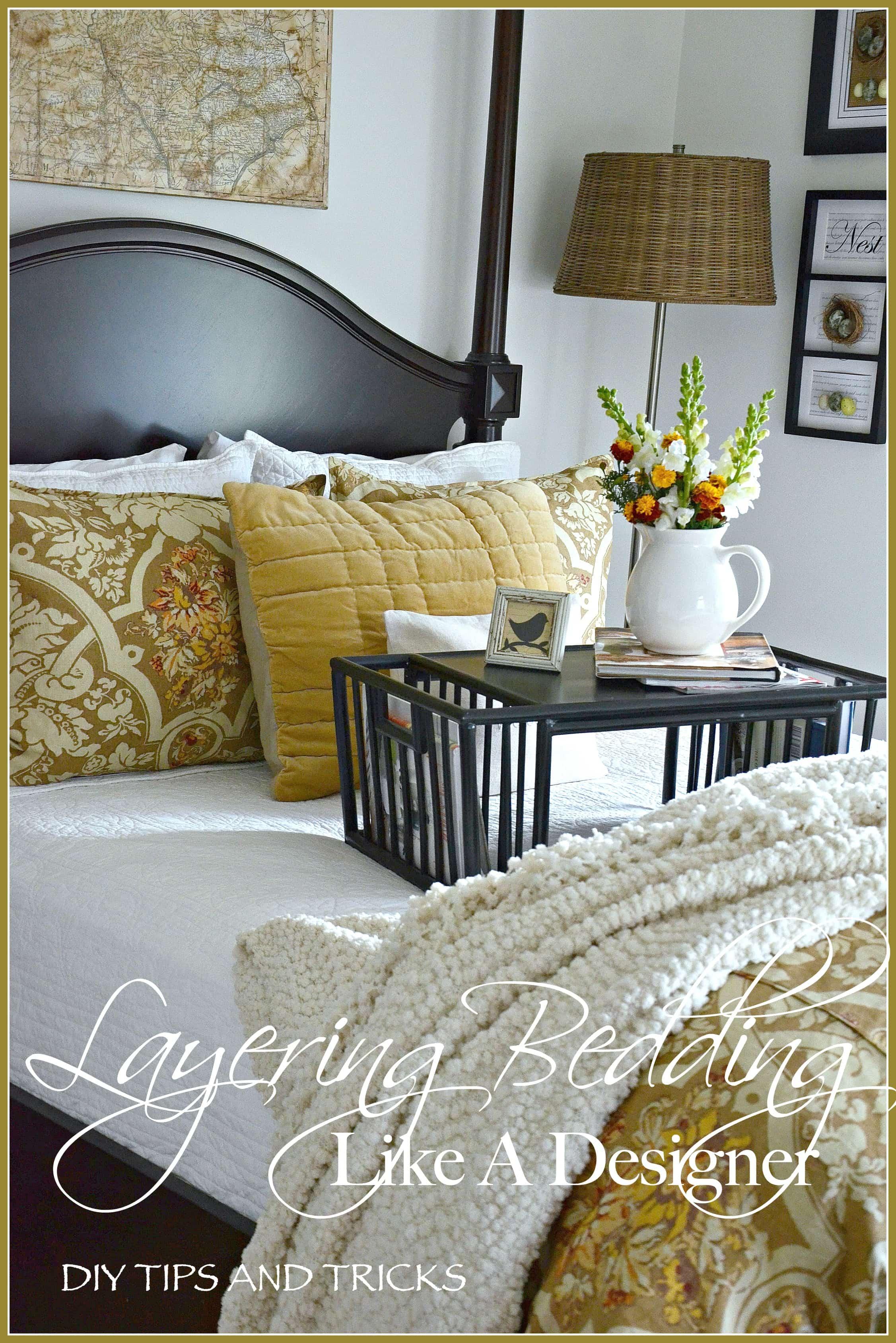 LAYERING BEDDING LIKE A DESIGNER-stonegableblog.com