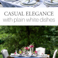 Outdoor Table White Dishes