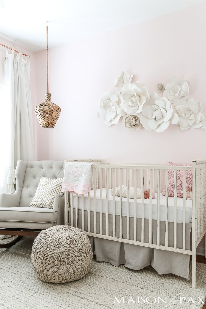 blush nursery decorating ideas neutral textures