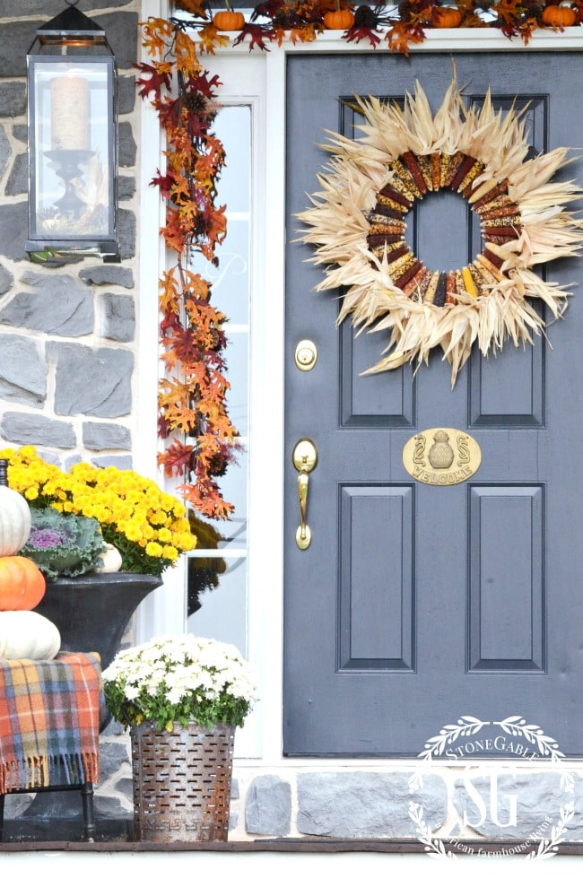 country fall porch design