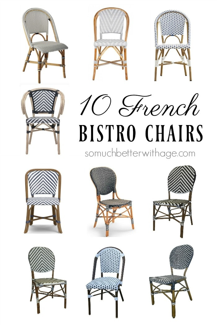 french bistro chairs