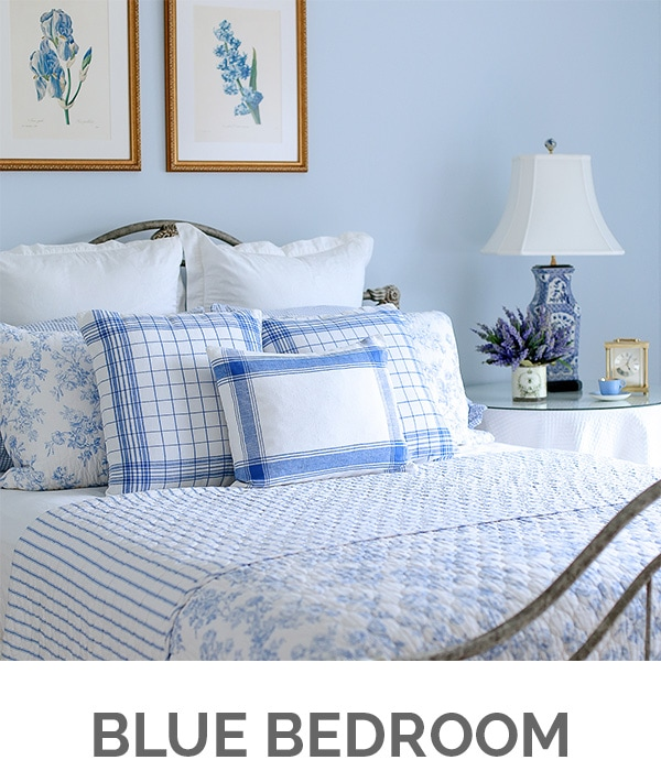 Shop My Home - Blue Bedroom - Designthusiasm.com