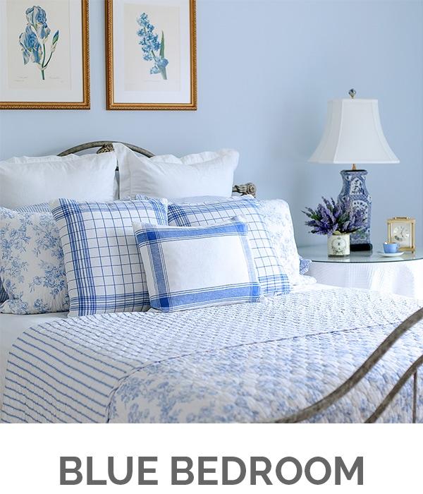 Shop My Home - Blue Bedroom - Designthusiasm.com