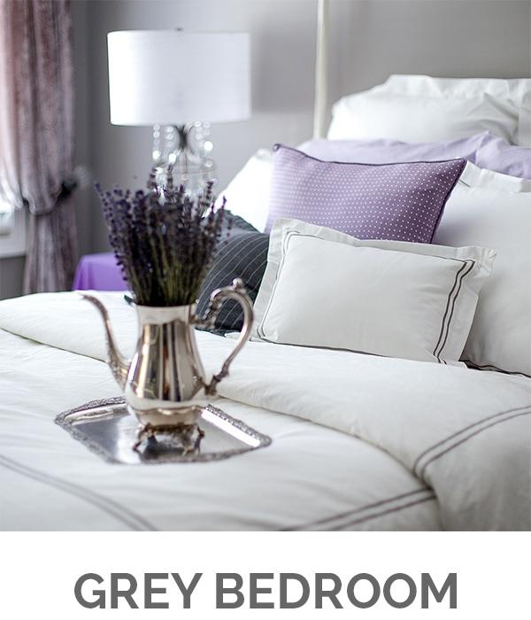 Shop My Home - Grey Bedroom - Designthusiasm.com
