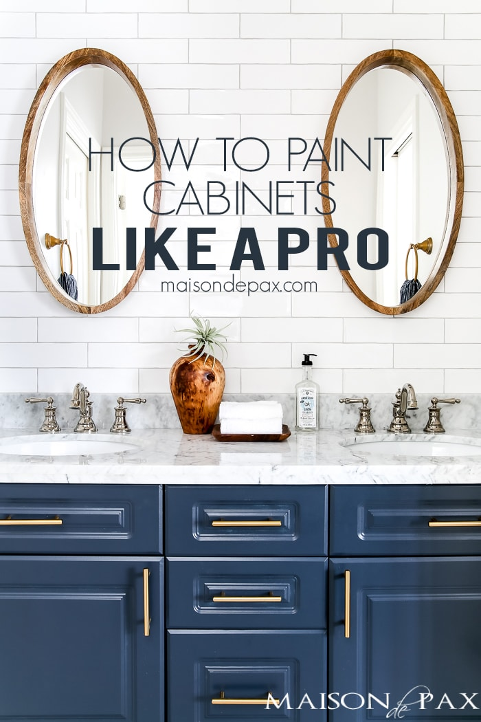 how to paint cabinets-sign
