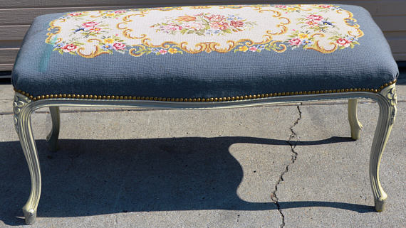 Louis tapestry bench