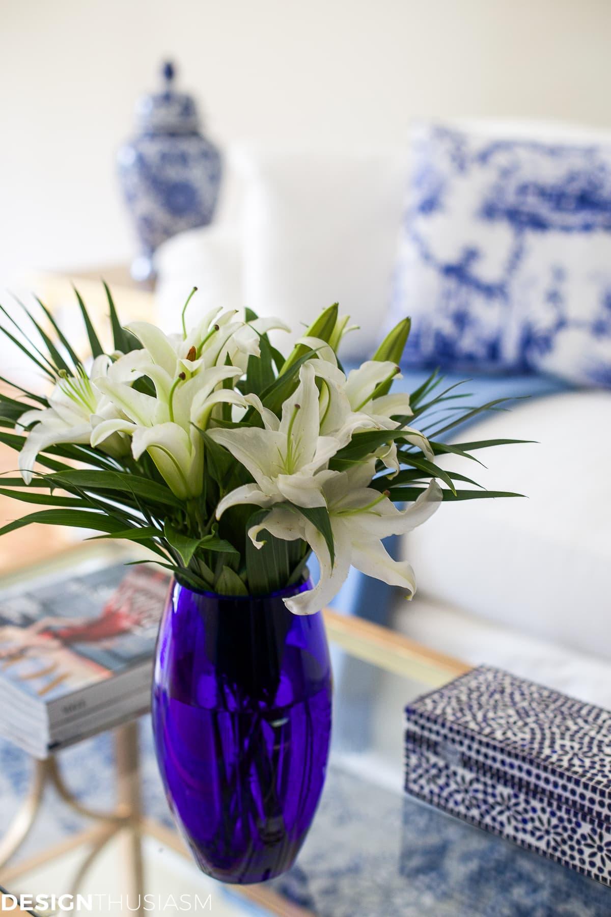 French blue living room - designthusiasm.com