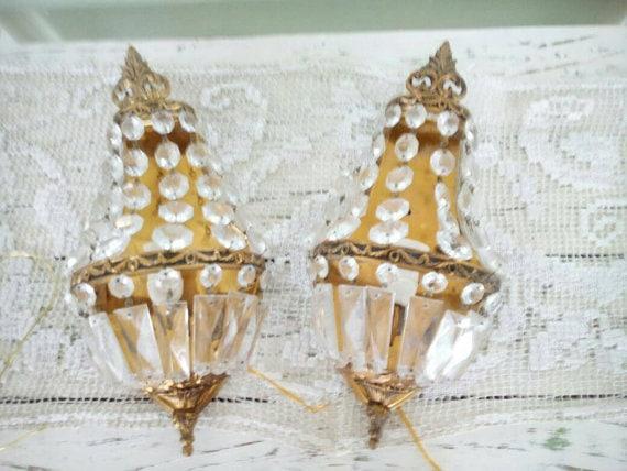 Pair Italian Empire candelabra sconces