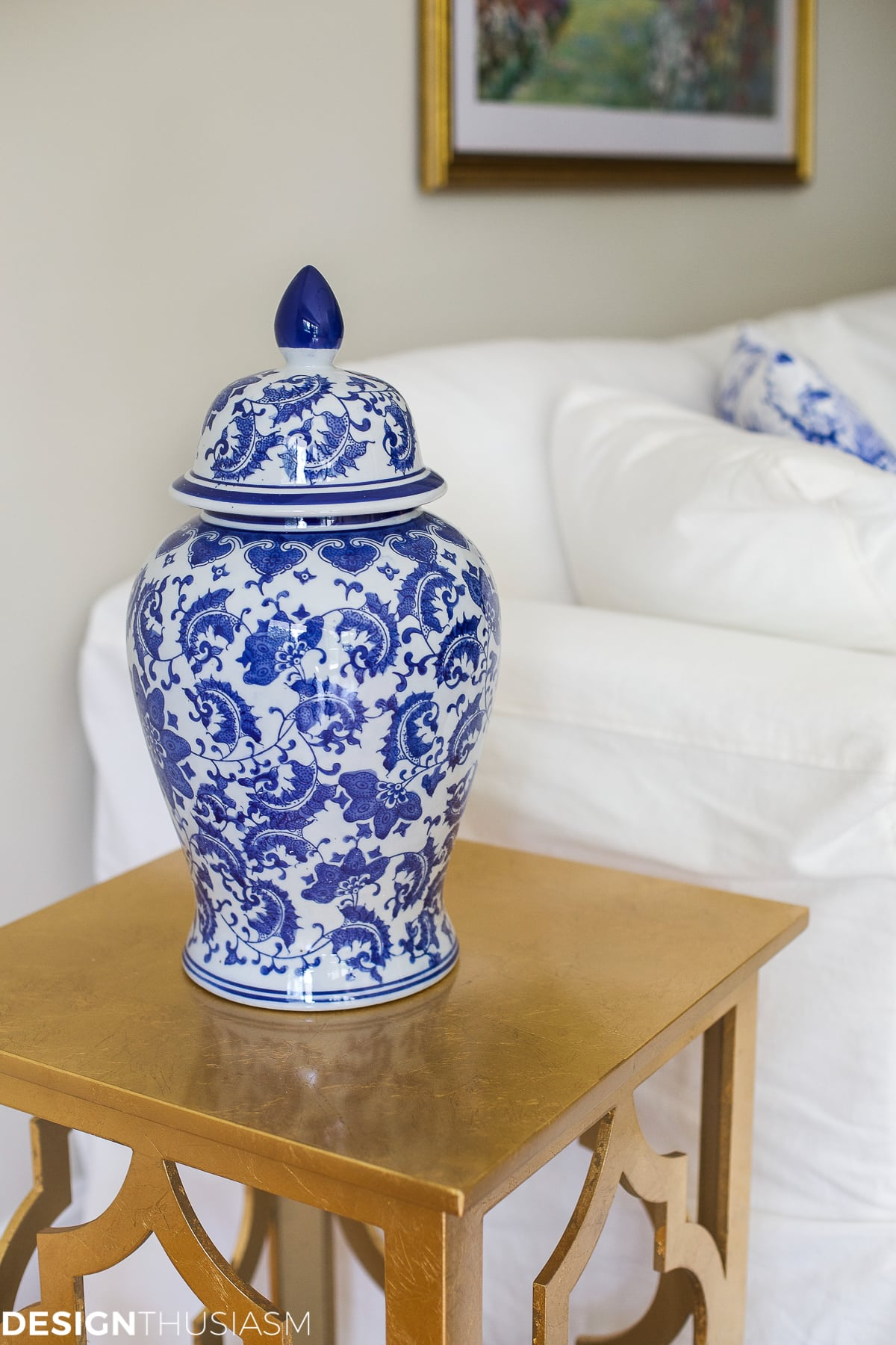 Blue And White Decor blue and white decor: maintaining your style when downsizing a home