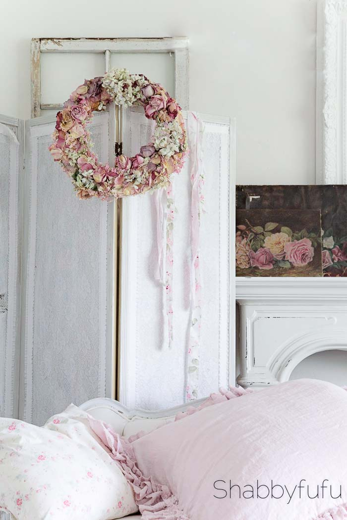 romantic dried floral wreath diy shabbyfufu