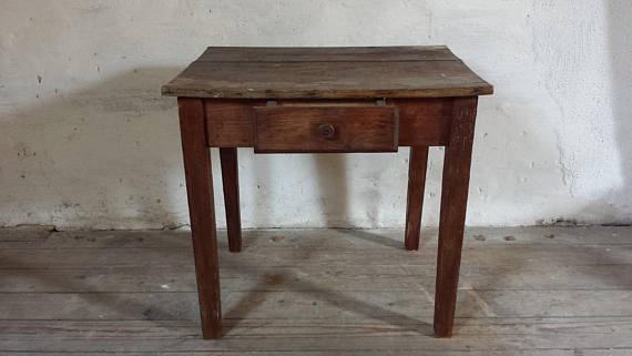 Antique French Primitive Rustic Table