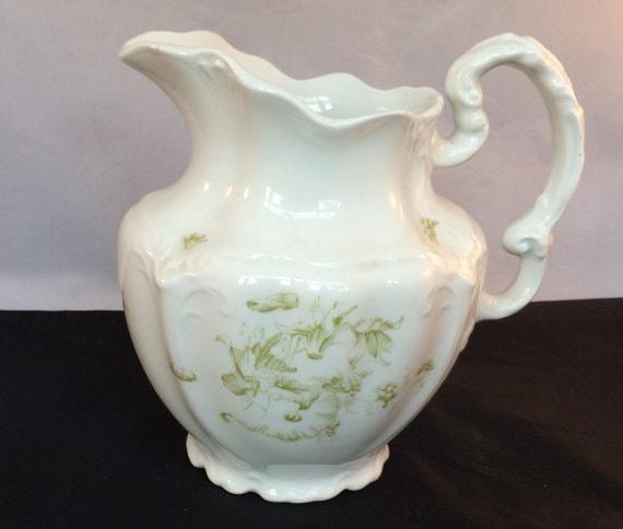 Delicate Floral Porcelain Pitcher