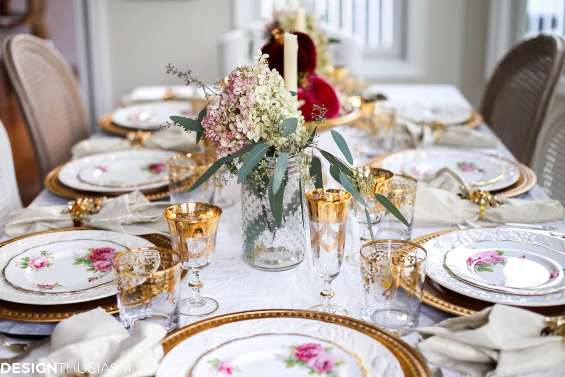 Simple dinner table setting - Creating A Simple Table Setting When You Have No Time Designthusiasm Com
