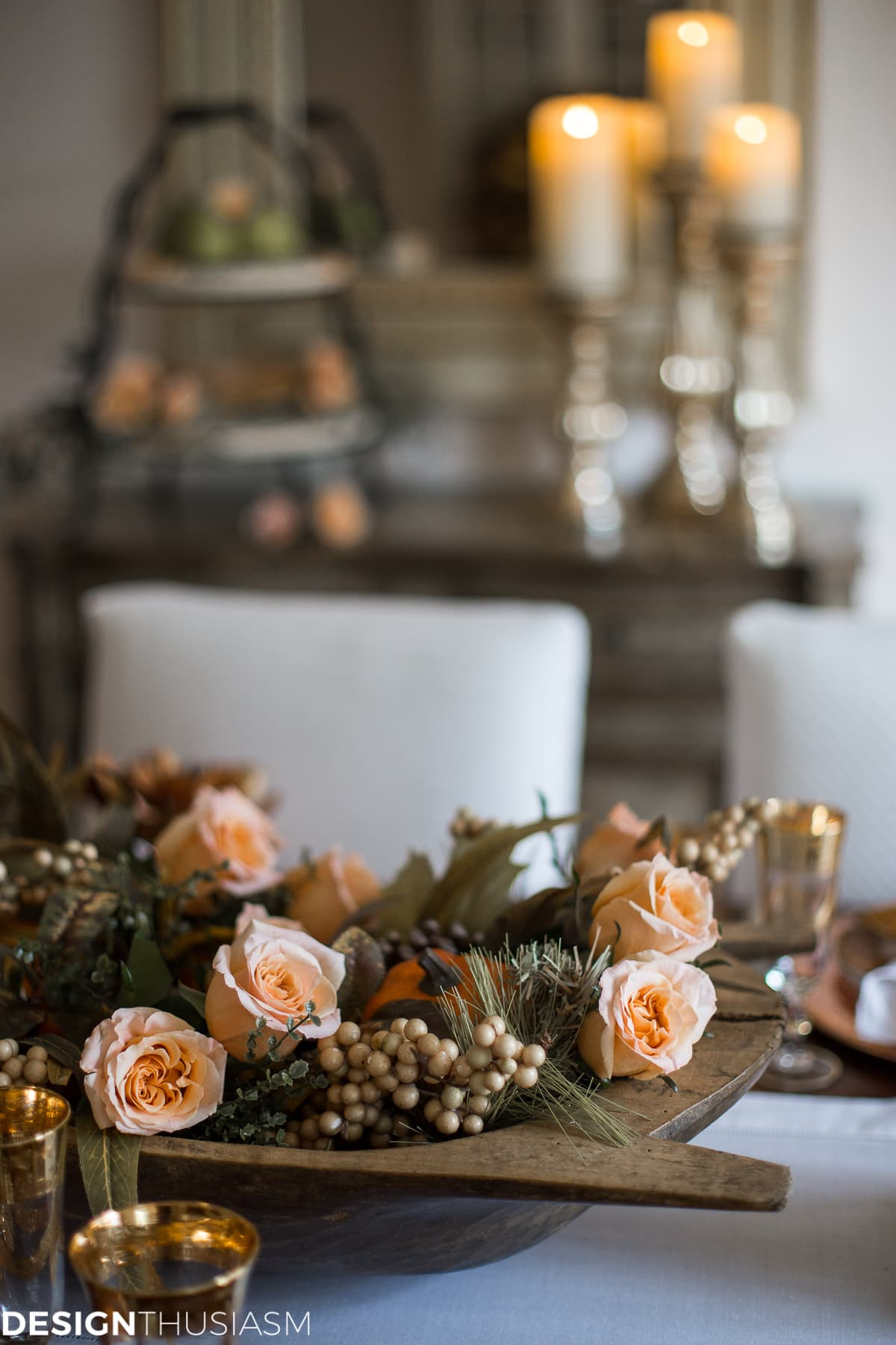 Using Fall Door Decorations to Dress Up Your Thanksgiving Table - designthusiasm