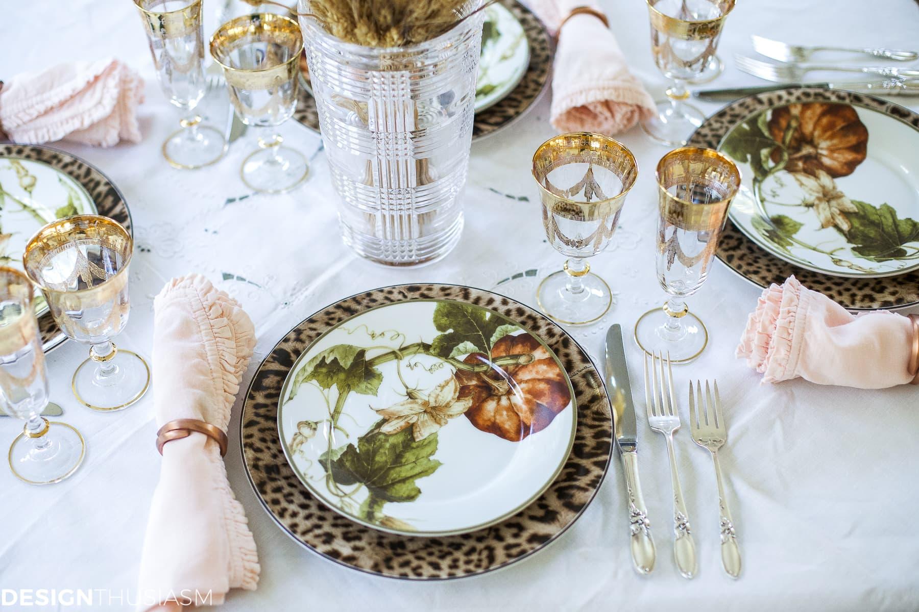 Add seasonal flavor with a fall wreath and garland - designthusiasm.com