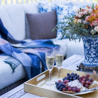 Outdoor Fall Decorating Ideas: Serving Hors d'Oeuvres on the Patio