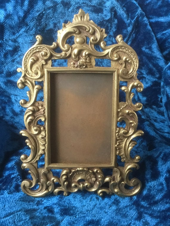 French vintage frame in bronze 19th