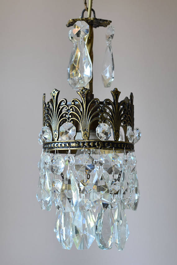 Antique French Vintage Crystal Chandelier