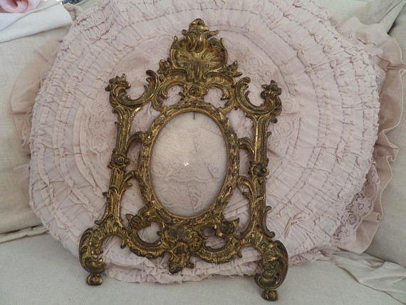 Stunning French Ornate Gilt Ormolu Frame